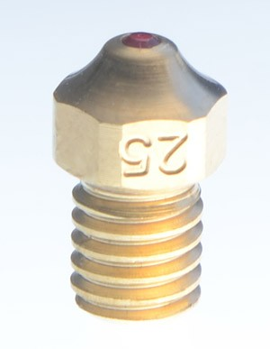 EVERLAST 0.25mm nozzle for UM2, Raise3D, Printrbot, Lulzbot and others